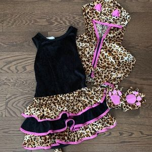 Girls Halloween Leopard Costume 6-7Y